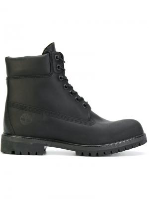 Армейские ботинки со шнуровкой Timberland. Цвет: черный