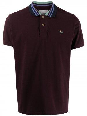Рубашка поло с воротником в полоску Vivienne Westwood. Цвет: красный
