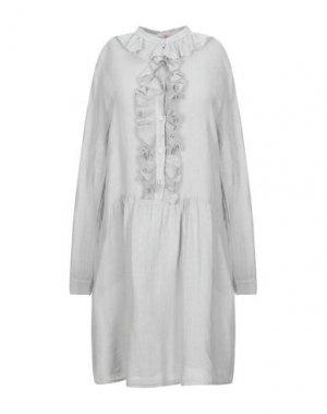Короткое платье AT.P.CO. Цвет: светло-серый