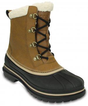 Ботинки мужские CROCS Men's AllCast II Boot Wheat/Black (Бежевый/Черный) арт. 203394. Цвет: бежевый/черный