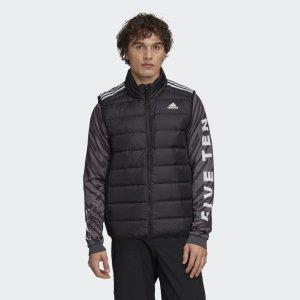 Пуховый жилет Essentials Performance adidas. Цвет: черный
