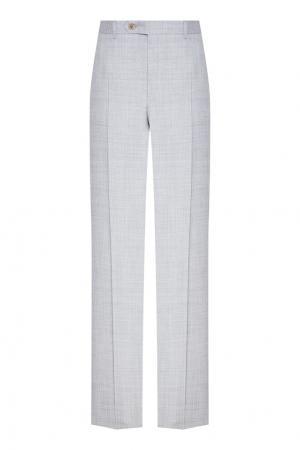 Классические серые брюки Canali. Цвет: серый