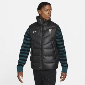 Мужской жилет с пуховым наполнителем Liverpool FC Windrunner - Черный Nike