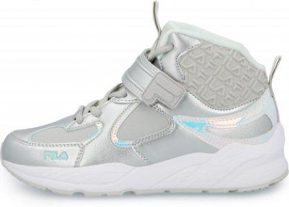 Кроссовки для девочек Jaden Mid, размер 39 Fila. Цвет: серебристый