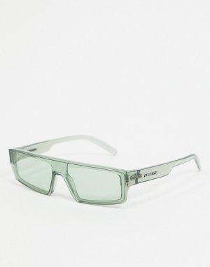 Зеленые солнцезащитные очки в квадратной оправе x Post Malone-Зеленый Arnette