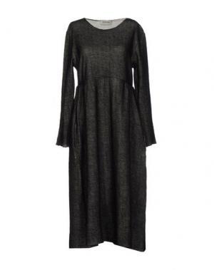 Платье длиной 3/4 BIONEUMA NATURAL FASHION. Цвет: черный