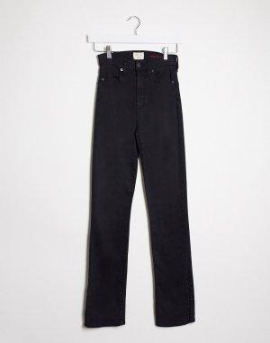 Черные расклешенные джинсы с завышенной талией Jeans-Черный Alice & Olivia