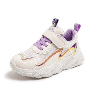 Для девочек Кроссовки Контрастный со шнурком SHEIN. Цвет: пурпурный