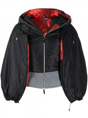 Куртка 1990-х годов с капюшоном и пышными рукавами Gianfranco Ferré Pre-Owned. Цвет: черный