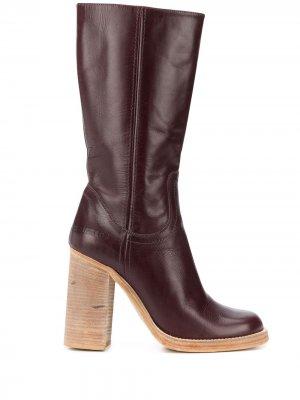 Ботинки на массивном каблуке Dsquared2. Цвет: коричневый