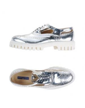 Обувь на шнурках ALBERTO GUARDIANI. Цвет: серебристый