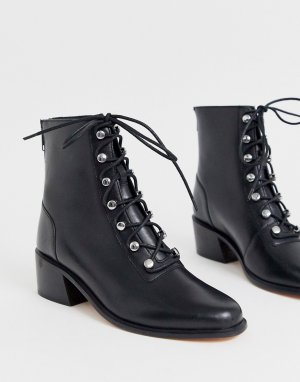 Походные ботинки со шнуровкой eberley-Черный Free People