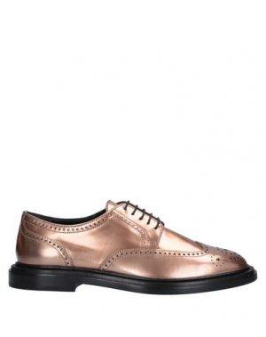 Обувь на шнурках AGL ATTILIO GIUSTI LEOMBRUNI. Цвет: бронзовый