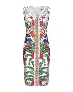 Платье до колена GAI MATTIOLO. Цвет: слоновая кость
