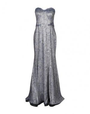 Длинное платье IMPERO COUTURE. Цвет: темно-синий