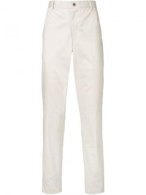 Классические брюки-чинос Thom Browne. Цвет: телесный