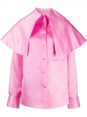 Рубашка на пуговицах с большим воротником Nina Ricci. Цвет: розовый