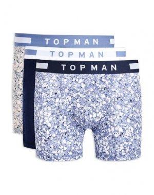 Боксеры TOPMAN. Цвет: синий