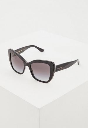 Очки солнцезащитные Dolce&Gabbana DG4348 501/8G. Цвет: черный