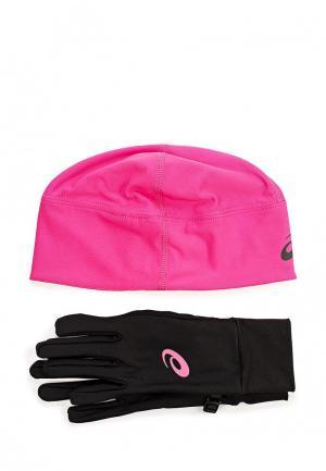 Комплект шапка и перчатки ASICS PERFORMANCE PACK. Цвет: разноцветный