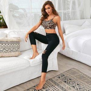 Однотонные рваные джинсы SHEIN. Цвет: чёрный