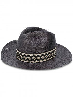 Шляпа-федора Crown Super Duper Hats. Цвет: черный