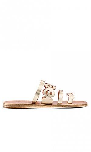 Сандалии meltemi Ancient Greek Sandals. Цвет: металлический золотой