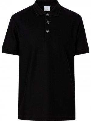 Рубашка-поло с тиснеными пуговицами Burberry. Цвет: черный