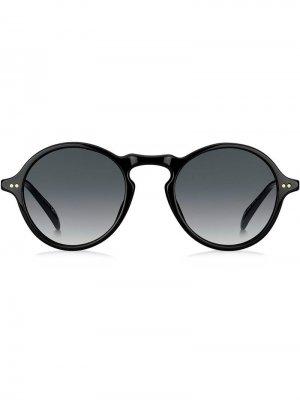 Солнцезащитные очки в круглой оправе Givenchy Eyewear. Цвет: черный