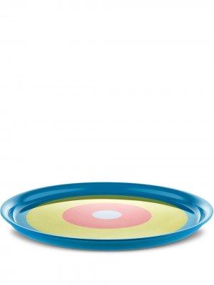 Поднос Con-Centrini (35 см) Alessi. Цвет: синий