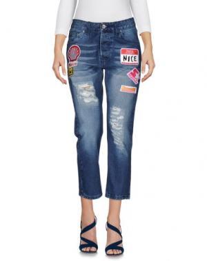 Джинсовые брюки-капри NICEBRAND. Цвет: синий