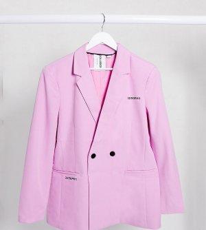 Розовый пиджак с принтом COLLUSION Unisex