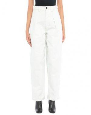 Джинсовые брюки JUCCA. Цвет: светло-серый