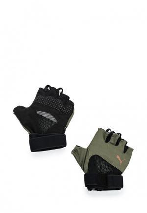 Перчатки для фитнеса PUMA Combat Training Gloves. Цвет: хаки
