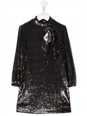 Платье с пайетками Nº21 Kids. Цвет: серебристый