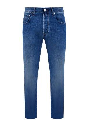 Прямые джинсы из ароматизированного денима с эффектом потертости JACOB COHEN. Цвет: синий