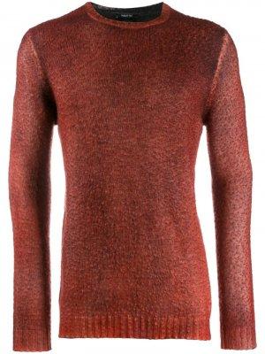 Трикотажный свитер с круглым вырезом Avant Toi. Цвет: красный