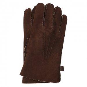 Кожаные перчатки Moreschi. Цвет: коричневый