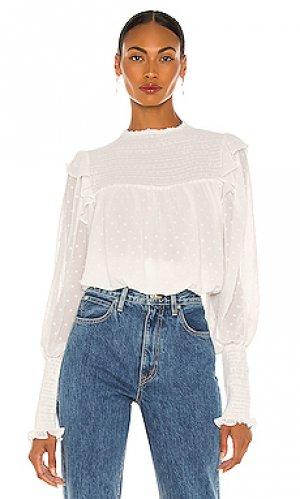 Блузка remi Bardot. Цвет: белый