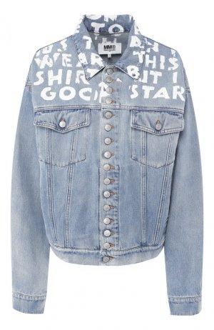 Джинсовая куртка Mm6. Цвет: голубой