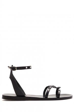 Черные сандалии с декором Koufonisi Rivets Ancient Greek Sandals. Цвет: черный