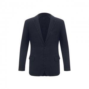 Льняной пиджак 120% Lino. Цвет: синий