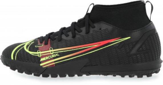 Бутсы для мальчиков Jr Superfly 8 Academy Tf, размер 35.5 Nike. Цвет: черный