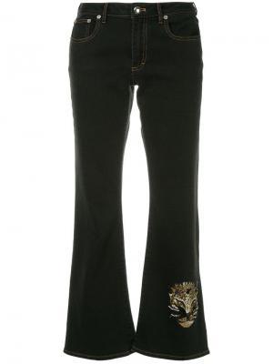 Укороченные джинсы с декорированным изображением леопарда Sonia Rykiel. Цвет: черный