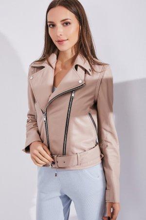 Женская Кожаная куртка 0207 INA VOKICH. Цвет: розовый