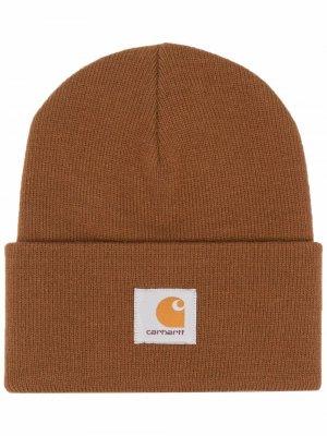Шапка бини с нашивкой-логотипом Carhartt WIP. Цвет: коричневый