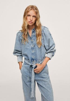 Комбинезон джинсовый Mango LOLA. Цвет: голубой