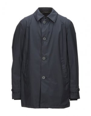Легкое пальто HERNO. Цвет: темно-синий