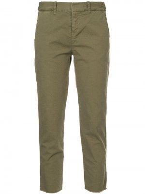 Классические брюки капри Nili Lotan. Цвет: зеленый