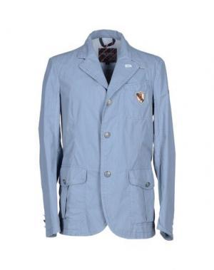 Пиджак GEOSPIRIT. Цвет: пастельно-синий